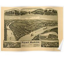 Panoramic Maps Point Marion Pennsylvania 1902 Poster