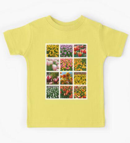 Tulips Montage 1 Kids Tee