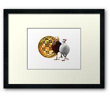Disco Birds Framed Print