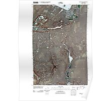 USGS Topo Map Washington State WA Coulee City 20110425 TM Poster