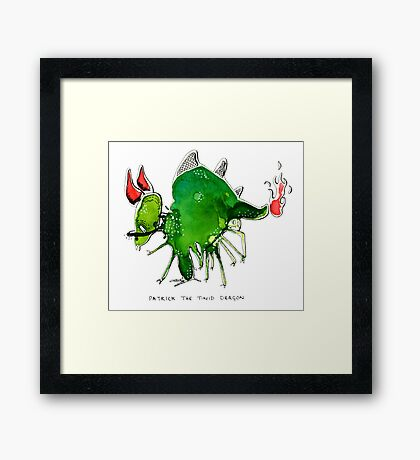 Patrick the timid dragon Framed Print