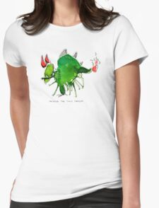 Patrick the timid dragon Womens Fitted T-Shirt