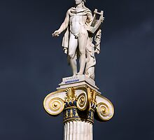 Greek god of music Apollo by shelfpublisher
