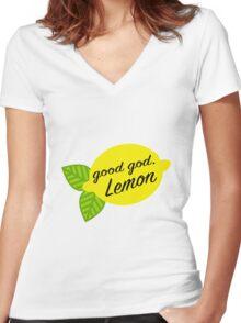 Good God, Lemon Women's Fitted V-Neck T-Shirt