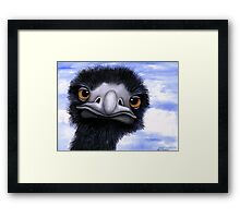 Nosy Emu (6660 viewings as at 15th June 2012) Acrylic painting Framed Print