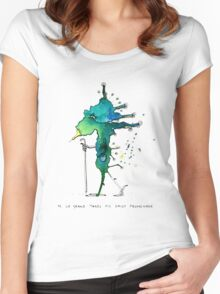 M. Le Grand takes his daily promenade Women's Fitted Scoop T-Shirt