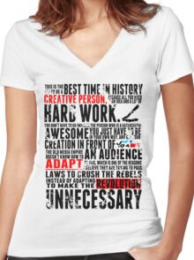 Creative Revolution Women's Fitted V-Neck T-Shirt