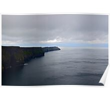 Climbing The Cliffs Of Moher, She Found Herself Floating On A Ribbon Of Baby Blue... Poster