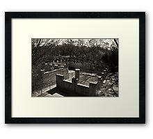 View of the open pool Framed Print