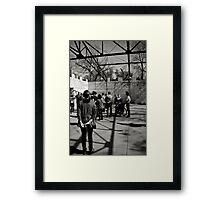 Waiting beyond the line. Framed Print