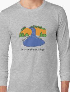 Simple Things - Waterfall Long Sleeve T-Shirt
