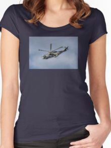 Royal Navy Merlin Helicopter Women's Fitted Scoop T-Shirt