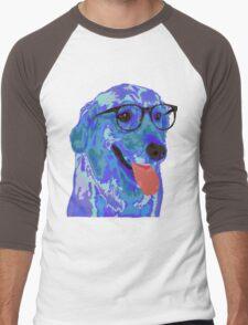 Hipster Dog Men's Baseball ¾ T-Shirt