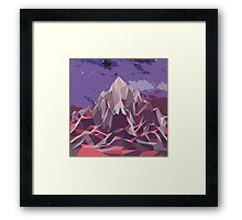 Night Mountains No. 6 Framed Print
