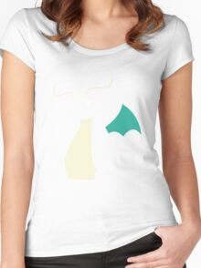 Pokemon Dragonite Outline Tee Women's Fitted Scoop T-Shirt