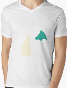 Pokemon Dragonite Outline Tee Mens V-Neck T-Shirt