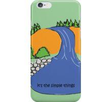 Simple Things - Waterfall iPhone Case/Skin