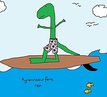 tyrannosurfers rex by paintbydumbers