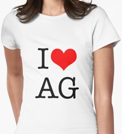 I <3 AG Womens Fitted T-Shirt