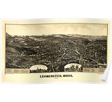 Panoramic Maps Leominster Mass 1886 Poster