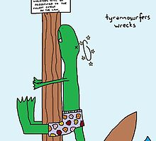 tyrannosurfers wrecks by paintbydumbers