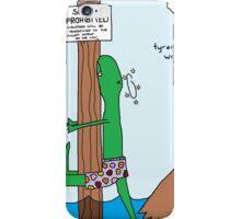 tyrannosurfers wrecks iPhone Case/Skin