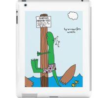 tyrannosurfers wrecks iPad Case/Skin