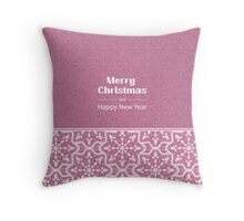 New Year; winter; Christmas  Throw Pillow