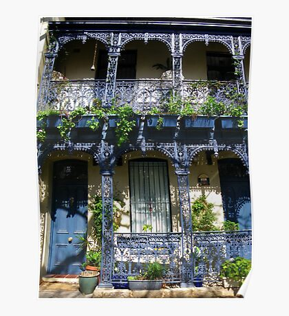 Iron Lace in Blue Poster