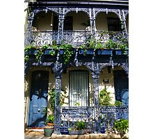 Iron Lace in Blue Photographic Print