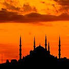 Silhouette of The Blue Mosque by Asif Patel