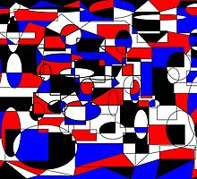 Circles n Squares Abstract by GoldenRectangle