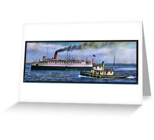SS Olympic and Tug Greeting Card