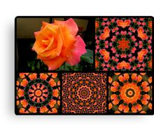 Flowers and kaleidoscopes # 2 Canvas Print
