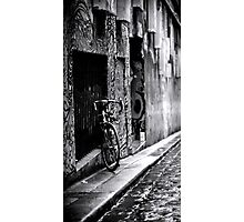 Winter day Alley way Photographic Print