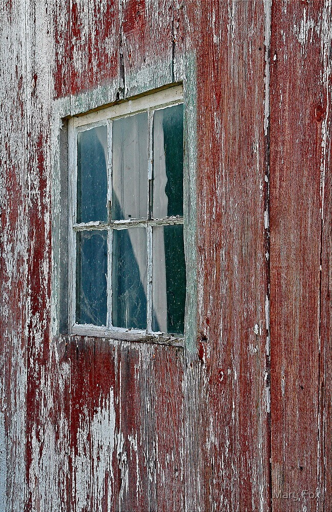 An old red barn... by Mary Fox