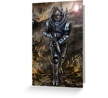 Garrus Vakarian - Wasteland Greeting Card