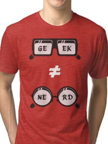 Geek Not Nerd Tri-blend T-Shirt