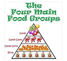 4 Main Food Groups Photographic Print
