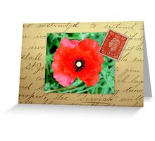 Remembrance Day Collage Greeting Card