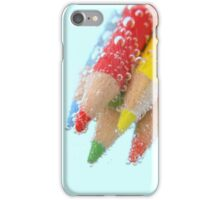 Bubbly coloured pencils iPhone Case/Skin