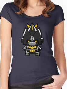 Mekkachibi Black Voltes Women's Fitted Scoop T-Shirt