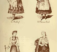 Fancy dresses described or What to wear at fancy balls by Ardern Holt 122 Folly Flower Girl Footwoman Newhaven Fish by wetdryvac
