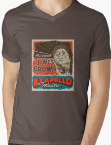 JAMES BROWN Mens V-Neck T-Shirt