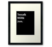 Tessa & Will & Jem Framed Print