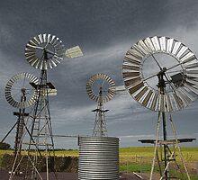 Rural Windmills by aviator70