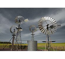 Rural Windmills Photographic Print