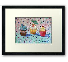 Cupcakes x 3 Framed Print
