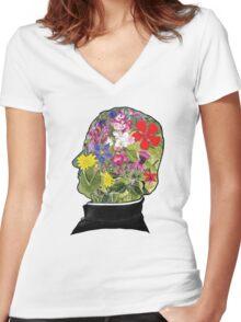 Mendel Women's Fitted V-Neck T-Shirt