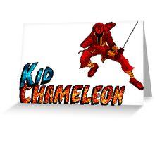 Kid Chameleon Greeting Card